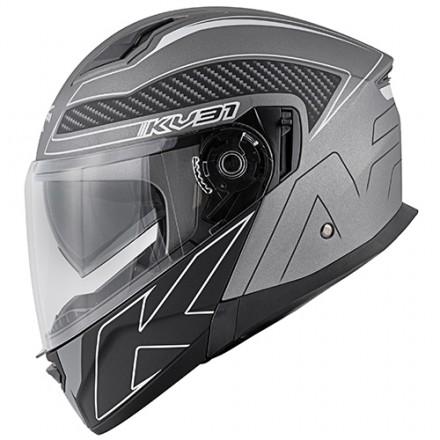 Casco modulare apribile Kappa Kv31 Arizona Bigger titanio opaco nero matt titanium black flip up Helmet