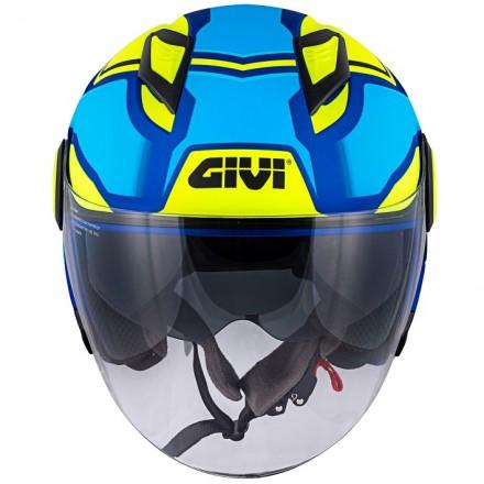 Casco Givi 123 Stratos blu metallizato opaco giallo matt blue yellow Helmet casque