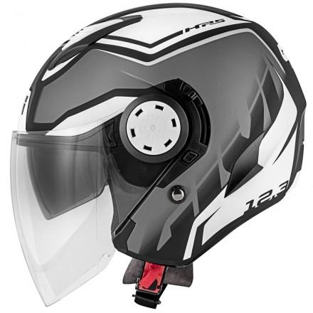 Casco Givi 123 Stratos titanio opaco nero bianco matt titanium black white Helmet casque