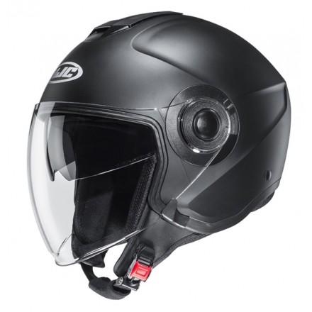 Casco jet Hjc i40 nero opaco black matt Helmet casque