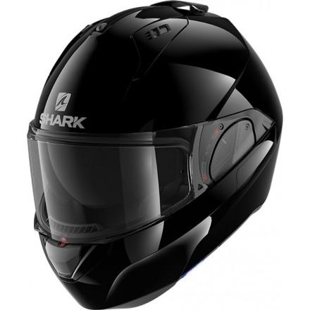 Casco modulare apribile reversibile moto Shark Evo Es nero black helmet casque