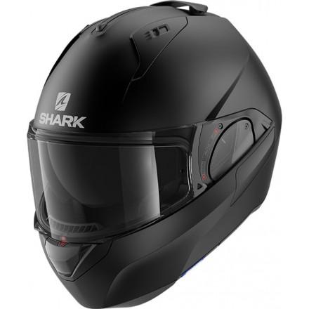 Casco modulare apribile reversibile moto Shark Evo Es nero opaco black mat helmet casque