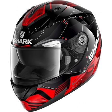 Casco integrale Shark Ridill 1.2 Mecca nero bianco rosso black white red helmet casque