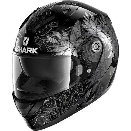 Casco integrale donna moto Shark Ridill 1.2 Nelum nero antracite black lady woman helmet casque