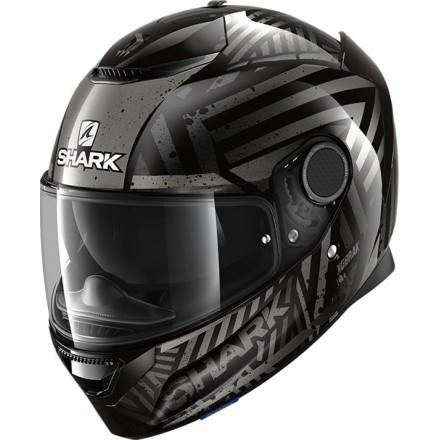Casco integrale moto fibra Shark Spartan 1.2 Kobrak nero antracite black helmet casque