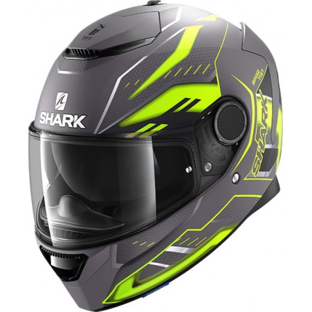 Casco integrale moto fibra Shark Spartan 1.2 Antheon antracite giallo yellow helmet casque