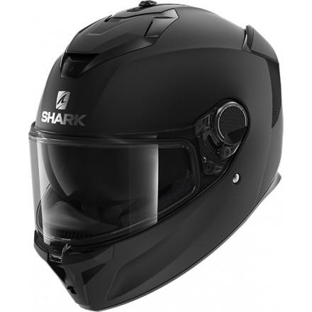 Casco integrale moto fibra Shark Spartan Gt nero opaco black matt helmet casque