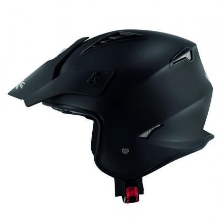 Casco jet moto enduro off road Kappa Kv45 Trial nero opaco black mat helmet casque