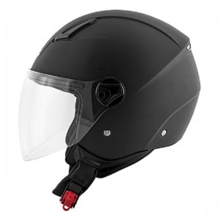 Casco jet city urban Kappa Kv28 nero opaco black mat helmet casque