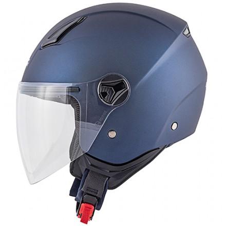 Casco jet city urban Kappa Kv28 blu opaco blue mat helmet casque