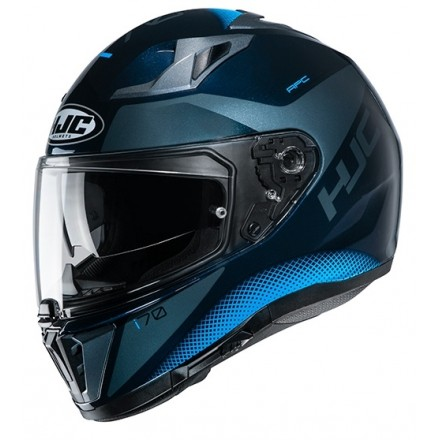 Casco integrale moto doppia visiera Hjc i70 Tas MC2 blu Helmet casque