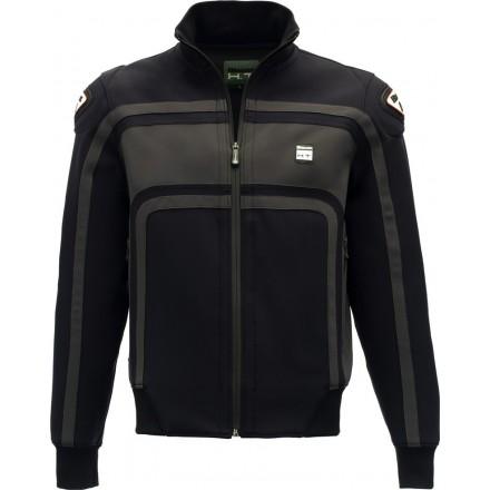 Giacca uomo moto con protezioni Blauer Easy Rider nero grigio black grey jacket
