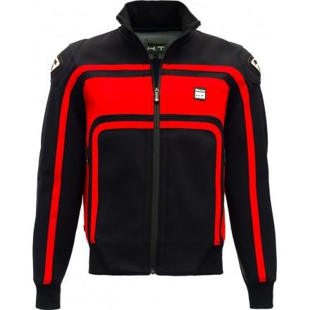 Giacca uomo moto con protezioni Blauer Easy Rider nero rosso black red jacket