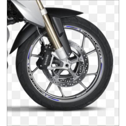 strisce RACING 7 cerchi stickers Adesivi ruote moto per HONDA VFR 1200 F