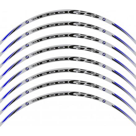 Adesivi cerchi Bmw R1200 GS base grigio striscie ruota grey wheel stickers