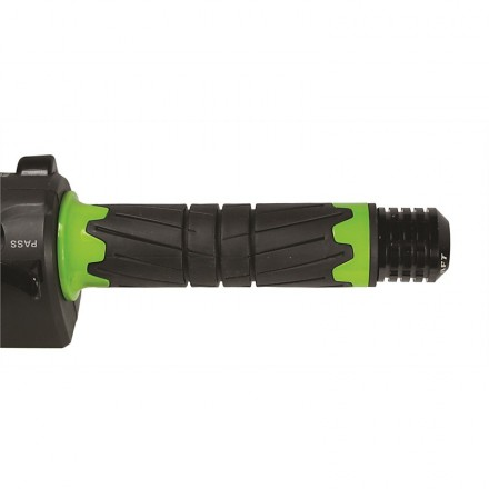 Manopole moto universali Chaft Space nero verde black green IN139 grip knob