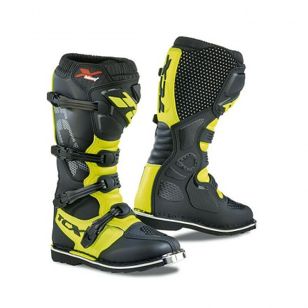 Stivali moto cross enduro motard Tcx X-blast nero giallo black yellow off road mx boots