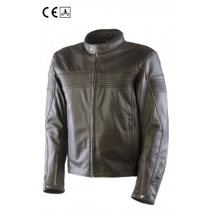 Oj Century man Giacca pelle uomo moto naked custom vintage cafe racer scrambler leather jacket
