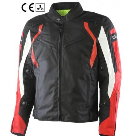 Oj Attitude nero rosso man Giacca uomo moto sport touring black red jacket