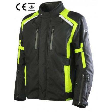 Oj Invincible man black yellow Giacca uomo nero giallo moto touring quattro stagioni four seasons jacket