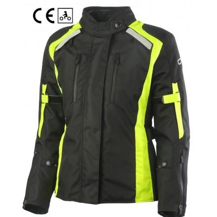 Oj Invincible lady nero giallo Giacca donna moto touring quattro stagioni four seasons woman girl black yellow jacket