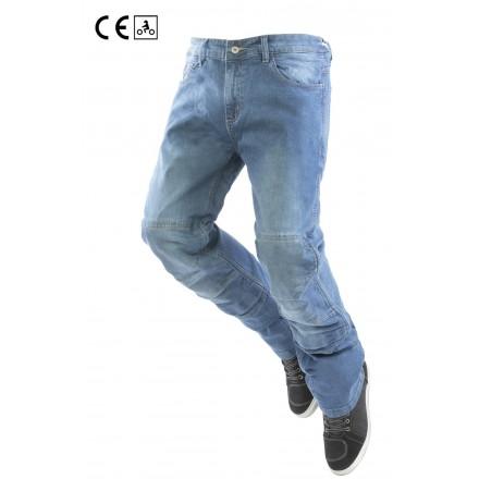 Jeans omologati moto con protezioni Oj Storm Man blu membrana impermeabile removibile