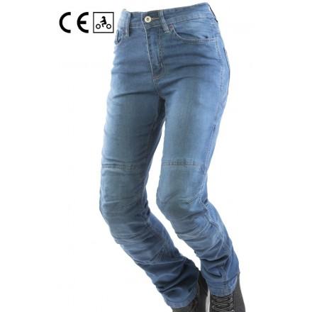 Jeans donna omologati moto con protezioni Oj Experience lady woman blu