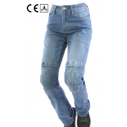 Jeans donna omologati moto con protezioni Oj Reload lady woman blu