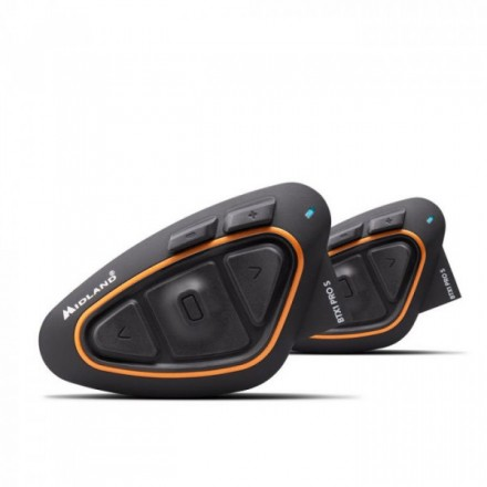 interfono moto bluetooth Midland BTX1 Pro S doppio twin Pack per due caschi