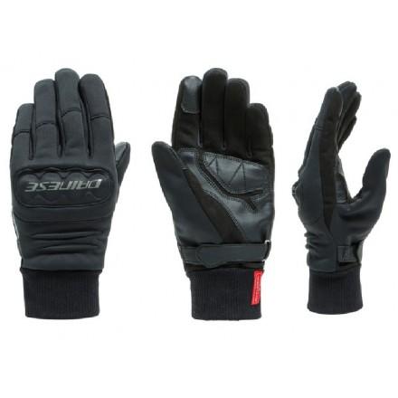 Guanti moto scooter antivento Dainese Coimbra Gore windstopper nero black gloves