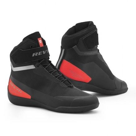 Scarpe moto Revit Mission nero rosso black red shoes