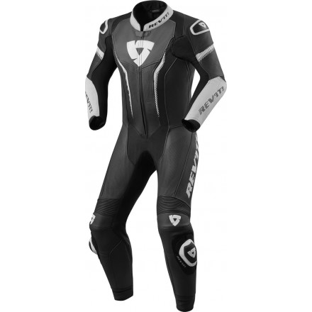 Tuta intera pelle racing pista corsa sport Revit Argon Nero bianco black white one piece leather suit