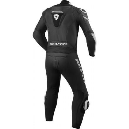 Tuta intera pelle racing pista corsa sport Revit Argon Nero bianco black white one piece leather suit