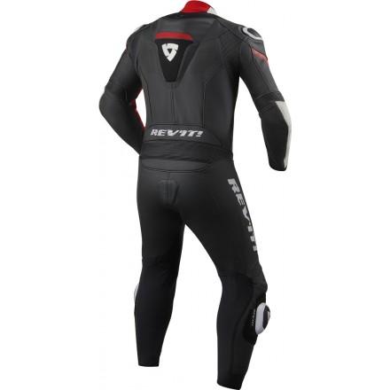 Tuta intera pelle racing pista corsa sport Revit Argon Nero bianco rosso black white red one piece leather suit
