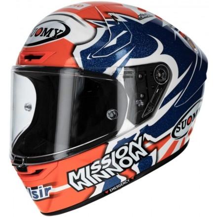 Casco integrale fibra carbonio moto racing pista corsa Suomy Sr-Gp Dovizioso Replica helmet casque