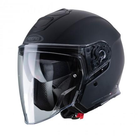 Casco jet moto Caberg Flyon nero opaco matt black helmet casque