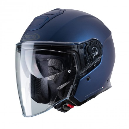 Casco jet moto Caberg Flyon blu opaco matt blue helmet casque