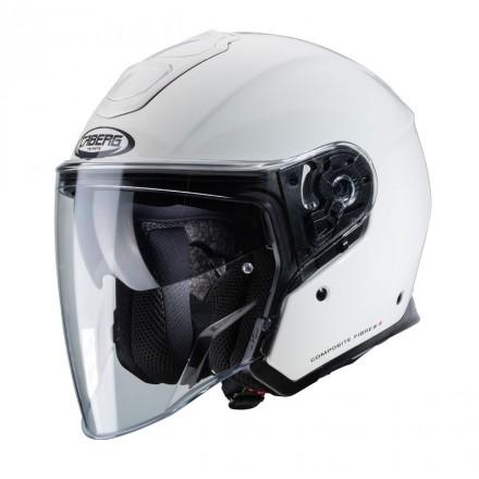 Casco jet moto Caberg Flyon bianco white helmet casque