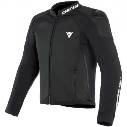 Giacca pelle moto Dainese Intrepida nero black leather jacket
