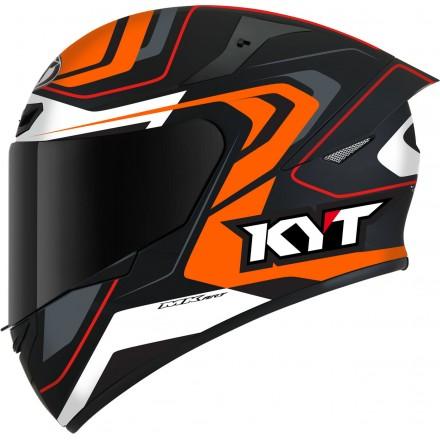Casco integrale moto Kyt TT Course Overtech nero arancione black orange helmet casque