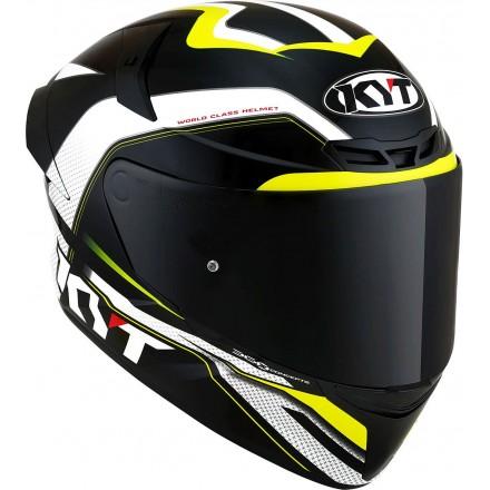 Casco integrale moto Kyt TT Course Grand Prix nero giallo black yellow helmet casque