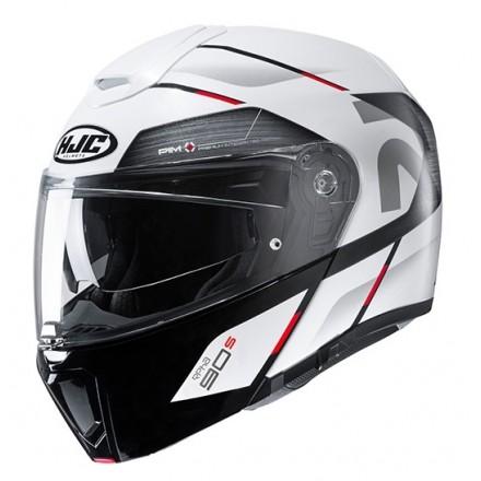 Casco modulare apribile fibra moto Hjc Rpha 90s Bekavo Mc1 bianco nero rosso flip up fiber Helmet casque