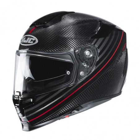 Casco integrale moto fibra carbonio Hjc Rpha 70 Carbon Artan MC1 rosso red helmet casque