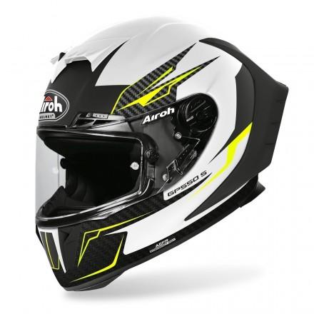 Casco integrale moto Airoh Gp 550 S Venom bianco nero opaco White matt helmet casque GP55V38