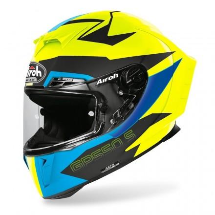 Casco integrale moto Airoh Gp 550 S Vektor giallo blu nero opaco yellow blue black matt helmet casque GP55VEK18