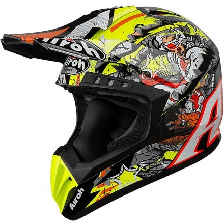 Casco moto cross enduro motard off road Airoh Switch Pirate helmet casque
