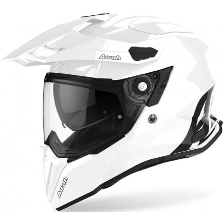 Casco integrale moto on off adventure Airoh Commander Bianco white helmet casque