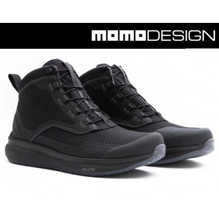 Scarpe moto impermeabili Tcx Momo Design Firegun 3 WP nero black waterproof shoes