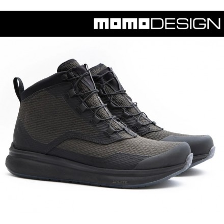 Scarpe moto impermeabili Tcx Momo Design Firegun 3 WP verde nero green black waterproof shoes