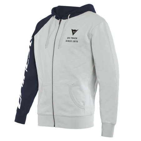 Felpa Dainese Full-zip Paddock Glacier-Gray black-iris Black hoodie sweatshirt